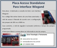 Placa Acesso Standalone Para Interface Wiegand